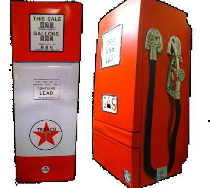 Frigo Pompe à Essence Chaudière Vintage